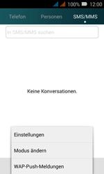 Huawei Y3 - SMS - Manuelle Konfiguration - Schritt 4