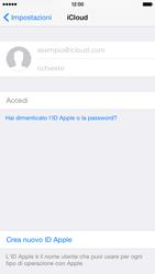 Apple iPhone 6 iOS 8 - Applicazioni - Configurazione del servizio Apple iCloud - Fase 4