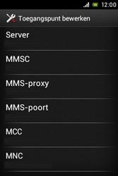 Sony ST23i Xperia Miro - internet - handmatig instellen - stap 13