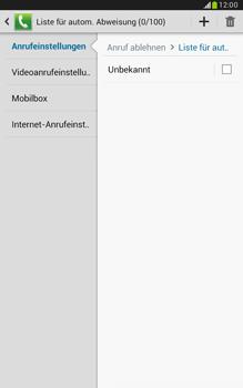 Samsung Galaxy Note 8-0 - Anrufe - Anrufe blockieren - 8 / 14