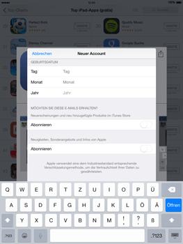 Apple iPad mini - iOS 8 - Apps - Einrichten des App Stores - Schritt 16