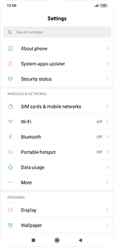 Xiaomi RedMi Note 7 - Internet and data roaming - How to check if data-connectivity is enabled - Step 3