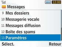 Samsung S3350 Chat 335 - E-mail - Configuration manuelle - Étape 4