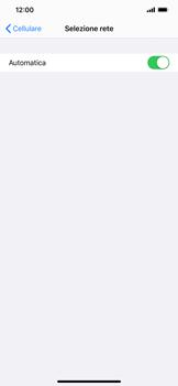 Apple iPhone XS Max - iOS 13 - Rete - Selezione manuale della rete - Fase 5