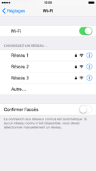 Apple iPhone 6 iOS 8 - Wifi - configuration manuelle - Étape 4