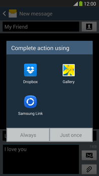 Samsung N9005 Galaxy Note III LTE - MMS - Sending pictures - Step 14