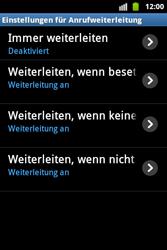 Samsung Galaxy Ace - Anrufe - Rufumleitungen setzen und löschen - 6 / 9