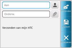 HTC A810e ChaCha - E-mail - E-mails verzenden - Stap 5