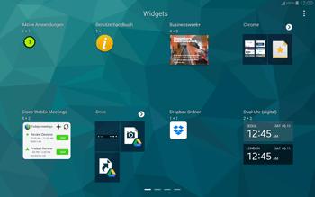 Samsung T805 Galaxy Tab S - Startanleitung - Installieren von Widgets und Apps auf der Startseite - Schritt 5