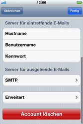 Apple iPhone 3GS - E-Mail - Konto einrichten - Schritt 13
