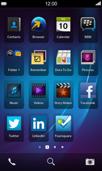 BlackBerry Z10 - Getting started - Personalising your Start screen - Step 7