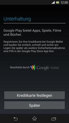 Sony Xperia Z - Apps - Konto anlegen und einrichten - 14 / 17