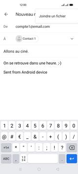 Oppo Reno 4Z - E-mails - Envoyer un e-mail - Étape 10