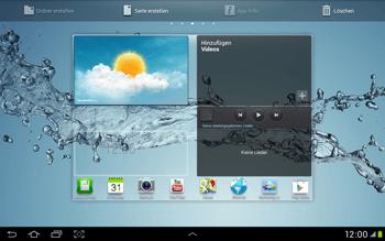 Samsung Galaxy Tab 2 10.1 - Startanleitung - Installieren von Widgets und Apps auf der Startseite - Schritt 7