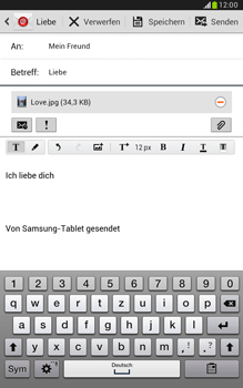 Samsung Galaxy Note 8-0 - E-Mail - E-Mail versenden - 1 / 1
