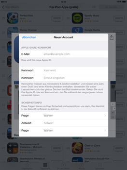 Apple iPad Air iOS 8 - Apps - Einrichten des App Stores - Schritt 13