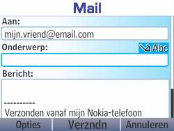 Nokia Asha 210 - E-mail - E-mails verzenden - Stap 10