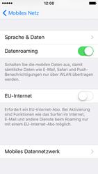 Apple iPhone SE - Ausland - Auslandskosten vermeiden - Schritt 7