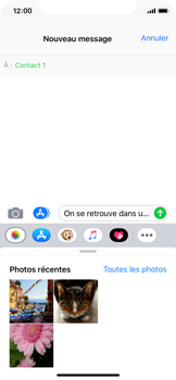 Apple iPhone X - iOS 12 - MMS - envoi d'images - Étape 8