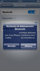 Apple iPhone 5 - Bluetooth - Collegamento dei dispositivi - Fase 8