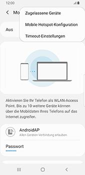 Samsung Galaxy S9 - Android Pie - WiFi - So aktivieren Sie einen WLAN-Hotspot - Schritt 9