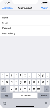 Apple iPhone XS Max - E-Mail - Manuelle Konfiguration - Schritt 9