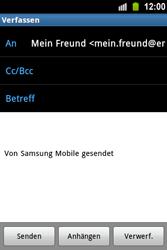 Samsung Galaxy Ace - E-Mail - E-Mail versenden - 1 / 1
