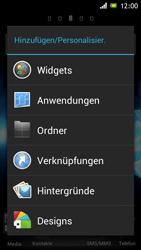 Sony Xperia J - Startanleitung - Installieren von Widgets und Apps auf der Startseite - Schritt 3