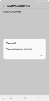 Samsung Galaxy Note9 - voicemail - handmatig instellen - stap 11