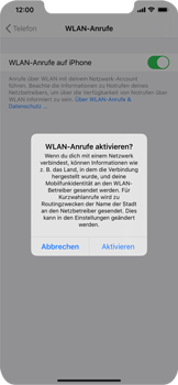 Apple iPhone XR - iOS 14 - WiFi - WiFi Calling aktivieren - Schritt 7