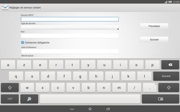 Sony Xperia Tablet Z2 LTE - E-mail - configuration manuelle - Étape 12