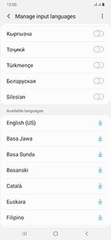 Samsung Galaxy A50 - Getting started - How to add a keyboard language - Step 12