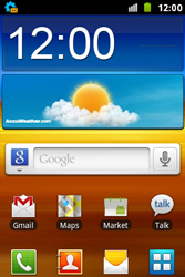 Samsung S7500 Galaxy Ace Plus - Internet - Automatic configuration - Step 3