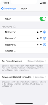 Apple iPhone 11 Pro - WLAN - Manuelle Konfiguration - Schritt 5