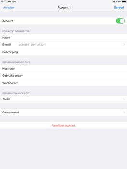 Apple iPad Mini 4 - iOS 12 - E-mail - e-mail instellen: POP3 - Stap 21