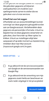 Samsung galaxy-s8-sm-g950f-android-pie - Applicaties - Account aanmaken - Stap 17