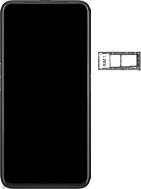 Oppo Reno 2Z - Premiers pas - Insérer la carte SIM - Étape 4