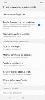 Samsung Galaxy A51 5G - Sécuriser votre mobile - Personnaliser le code PIN de votre carte SIM - Étape 6