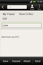 HTC A320e Desire C - E-mail - Sending emails - Step 9