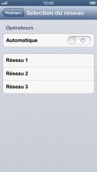Apple iPhone 5 - Réseau - sélection manuelle du réseau - Étape 7