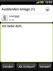 HTC A3333 Wildfire - E-Mail - E-Mail versenden - Schritt 15