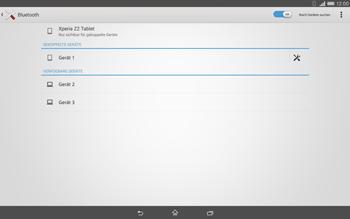 Sony Xperia Tablet Z2 LTE - Bluetooth - Geräte koppeln - Schritt 10