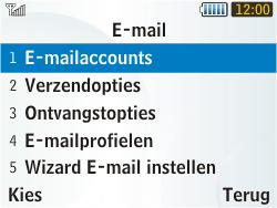 Samsung S3350 Chat 335 - E-mail - Handmatig instellen - Stap 9