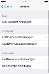 Apple iPhone 4 S mit iOS 7 - E-Mail - Konto einrichten - Schritt 6
