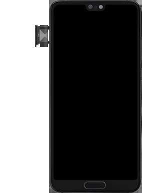 Huawei P20 - Android Pie - SIM-Karte - Einlegen - Schritt 3