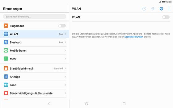 Huawei MediaPad T3 (10.0) LTE - WLAN - Manuelle Konfiguration - Schritt 4