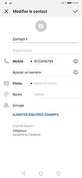 Huawei Mate 20 Pro - Contact, Appels, SMS/MMS - Ajouter un contact - Étape 7