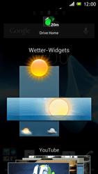 Sony Xperia J - Startanleitung - Installieren von Widgets und Apps auf der Startseite - Schritt 4