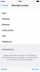 Apple iPhone 5s - iOS 8 - Applications - Créer un compte - Étape 24