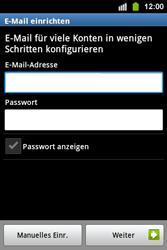 Samsung S5830i Galaxy Ace i - E-Mail - Konto einrichten - Schritt 5